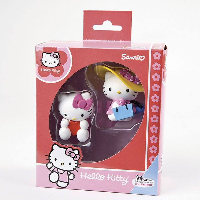 2 Spielfiguren Hello kitty Shopping Girl und Hello Kitty Valentine